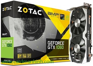 ZOTAC GTX 1060 Edition AMP 6GB DDR5