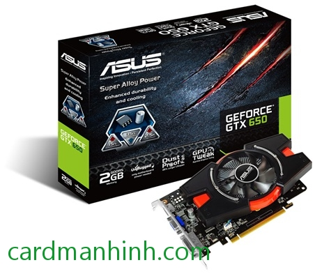 Card màn hình ASUS GeForce GTX 650 2GB GTX650-E-2GD5