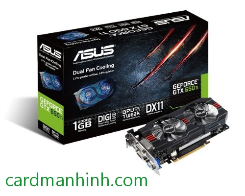 Card màn hình ASUS GeForce GTX 650 Ti Direct CU II O.C