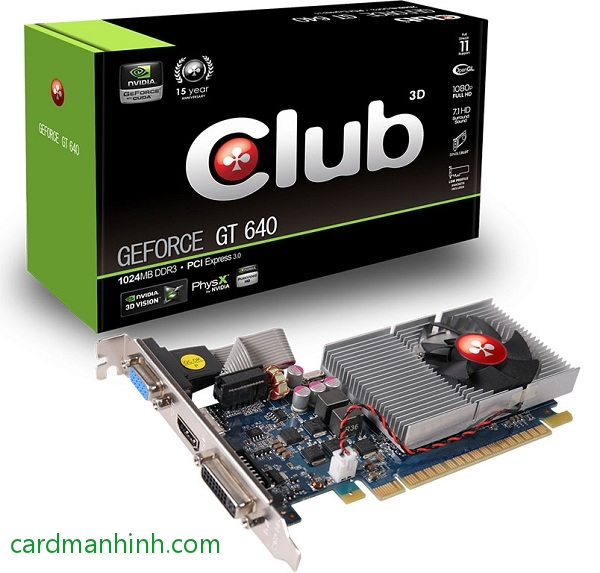 Card màn hình Club 3D GeForce GT 640 1024MB GDDr3