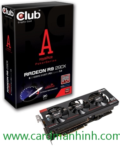 Card màn hình Club 3D Radeon R9 290X royalAce 8GB