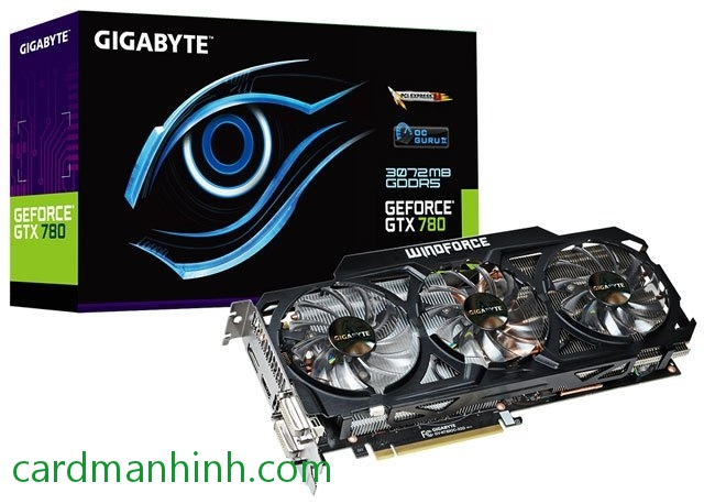 Card màn hình Gigabyte GeForce GTX 780 OC WindForce 3X 450W