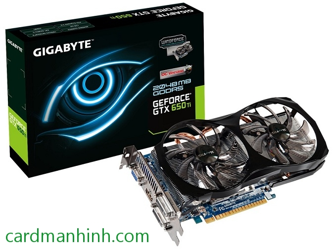Card màn hình Gigabyte GeForce GTX 650 Ti Overclock 2GB