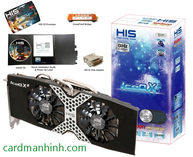 Card màn hình HIS HD 7970 IceQ X2 GHz Edition