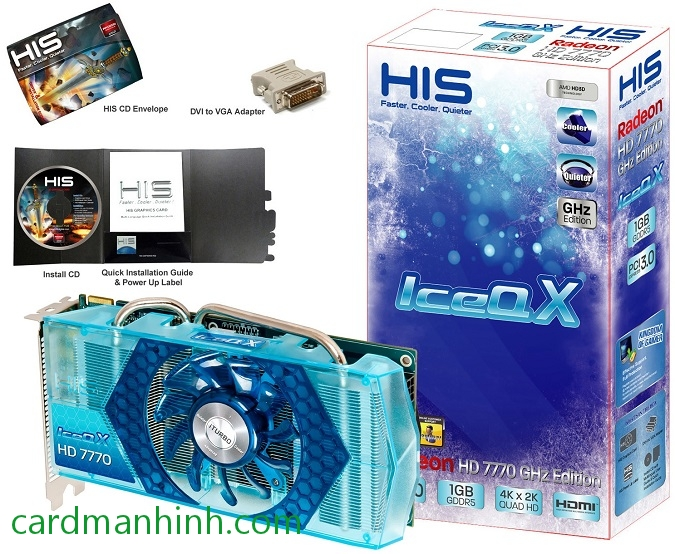 Card màn hình HIS Radeon HD 7770 IceQ X Blue