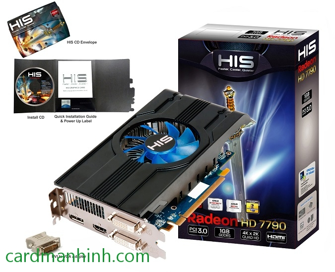 Card màn hình HIS Radeon HD 7790 iCooler 1GB