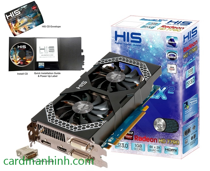 Card màn hình HIS Radeon HD 7790 iPower IceQ X²
