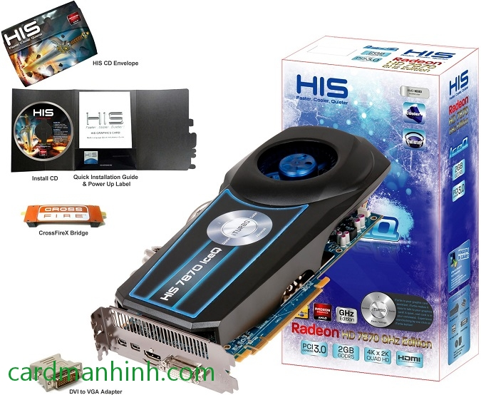 Card màn hình HIS Radeon HD 7870 IceQ 2GB