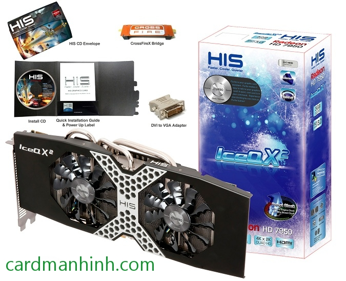 Card màn hình HIS Radeon HD 7950 3GB IceQ X2