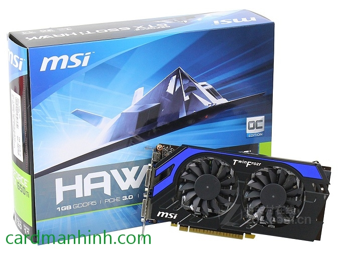 Card màn hình MSI GeForce GTX 650 Ti Hawk Edition