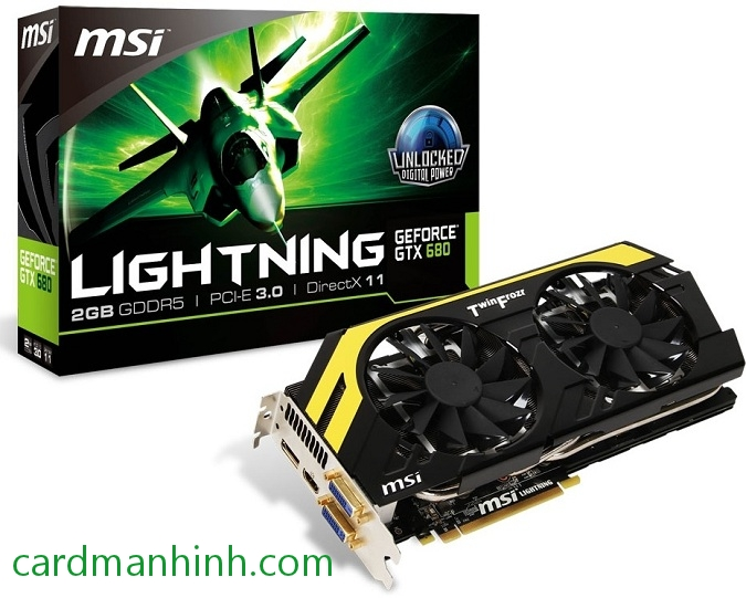 Card màn hình MSI GeForce GTX 680 Lightning L