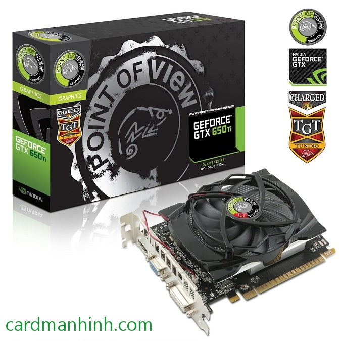 Card màn hình Point of View GeForce GTX 650 Ti