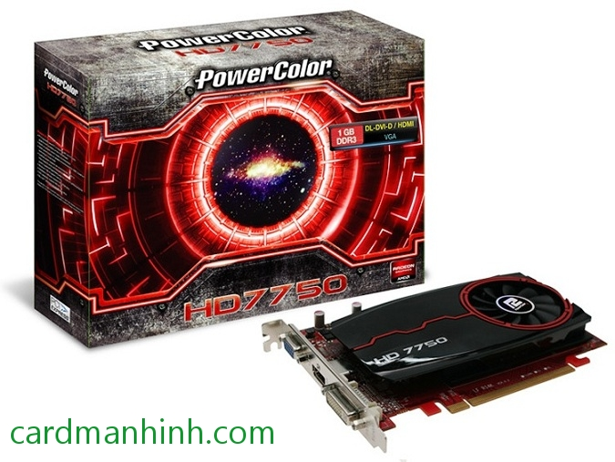 Card màn hình PowerColor Radeon HD7750 1GB GDDr3