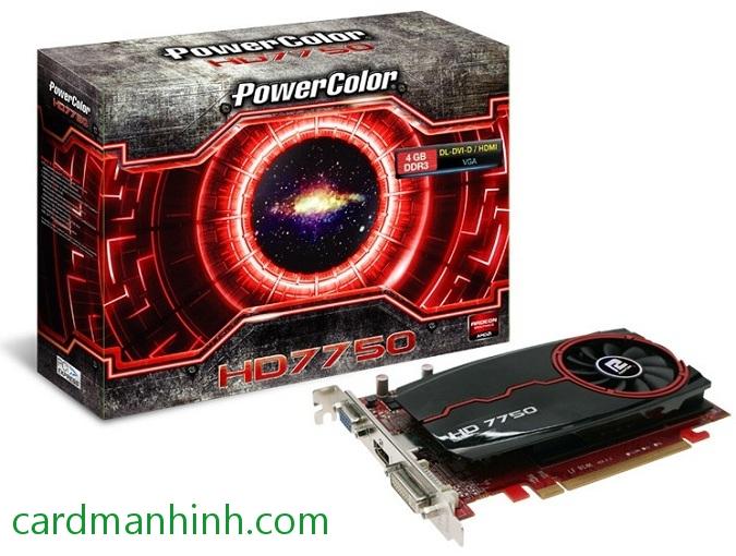 Card màn hình PowerColor Radeon HD7750 4GB GDDr3