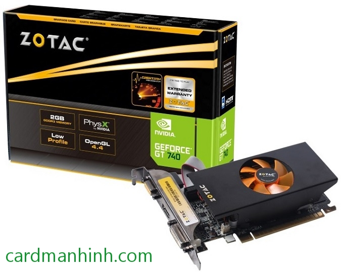 Card màn hình Zotac GeForce GT 740 low-profiles 2GB