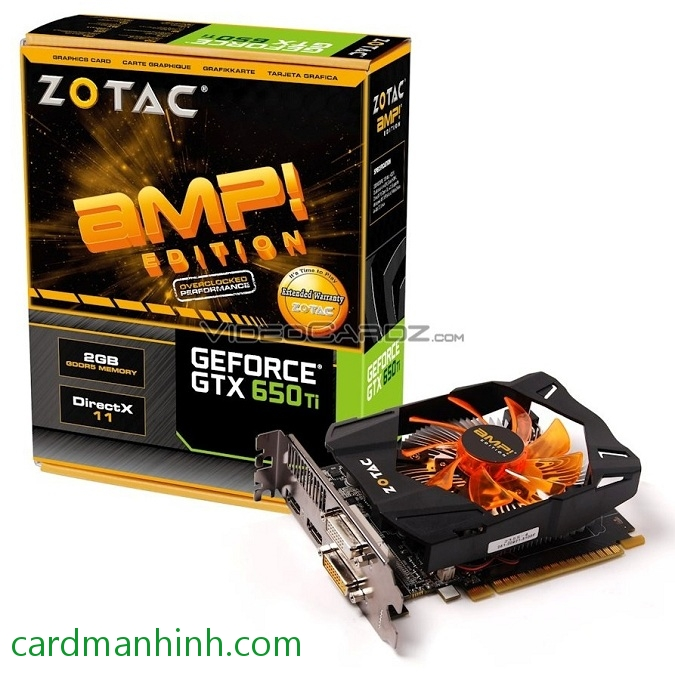 Card màn hình ZOTAC GeForce GTX 650 Ti 2GB AMP! Edition
