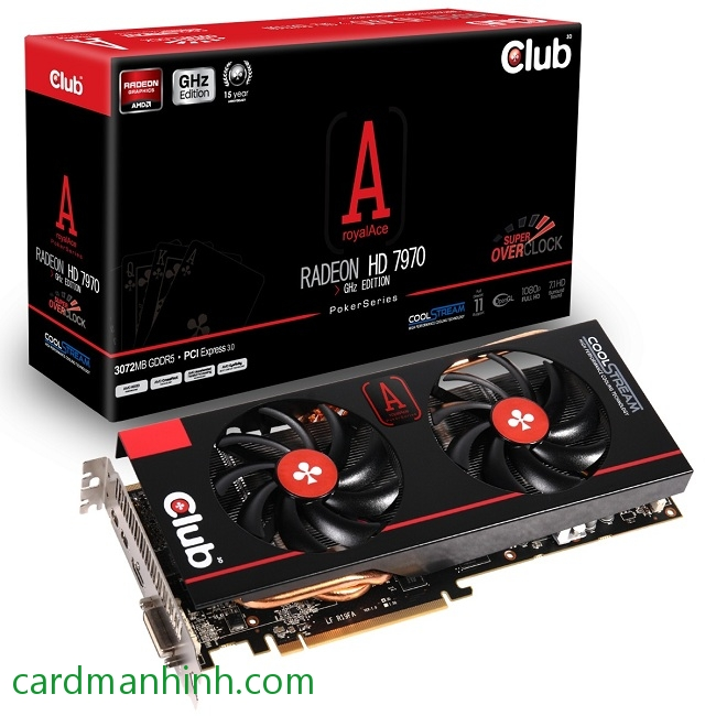 Card màn hình Club3D Radeon HD 7970 RoyalAce