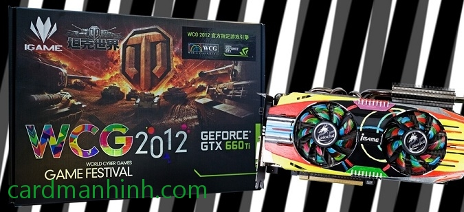 Card màn hình Colorful GeForce iGame GTX660 Ti World Cyber Games