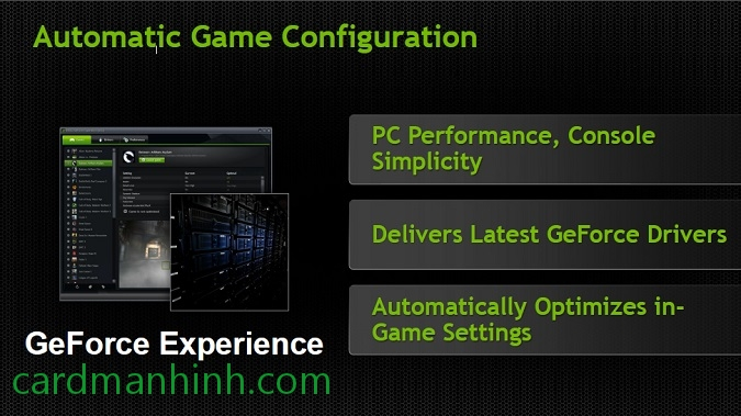 Công nghệ GeForce Experience