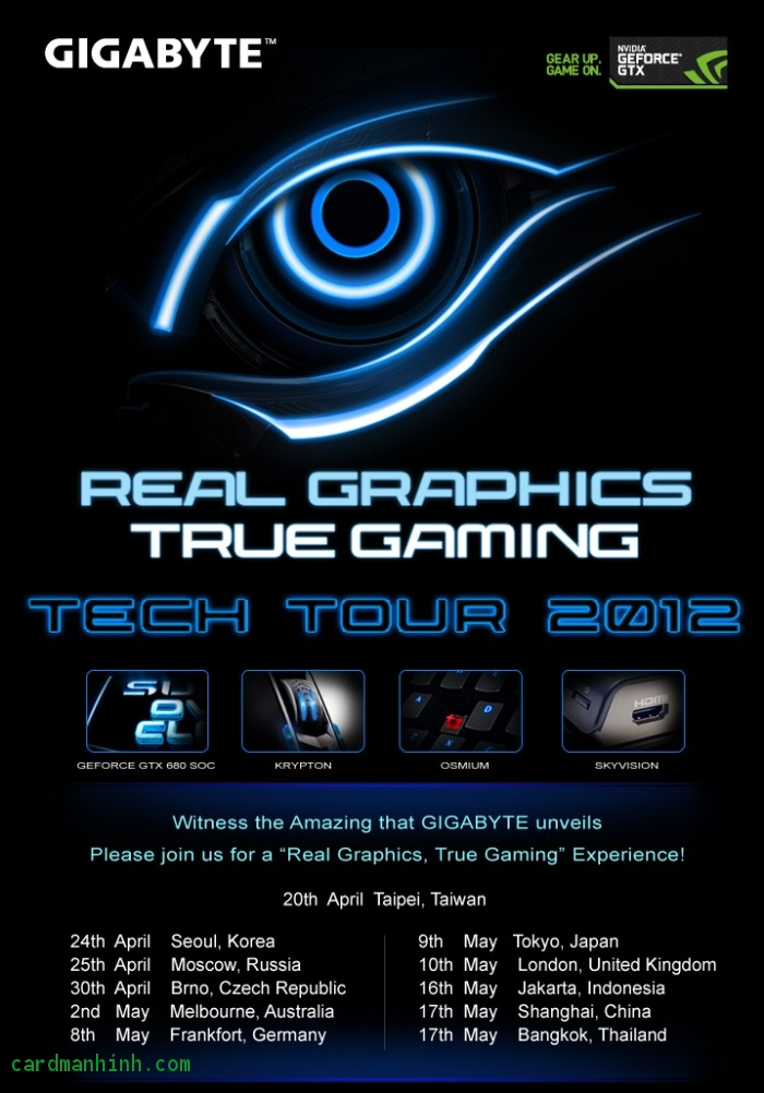 "GIGABYTE ""Real Graphics, True Gaming"" Tech Tour 2012"