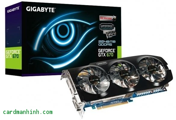 Card màn hình GeForce GTX 670 Windforce 3X