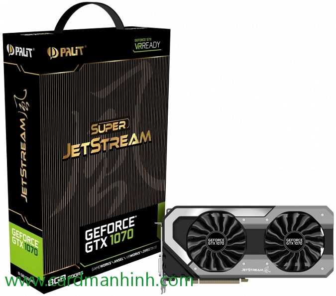 Card màn hình Palit GeForce GTX 1070 Super JetStream