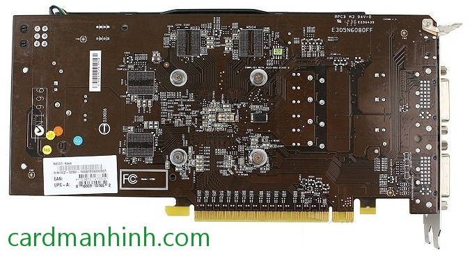 Mặt sau MSI GeForce GTX 650 Ti Hawk Edition