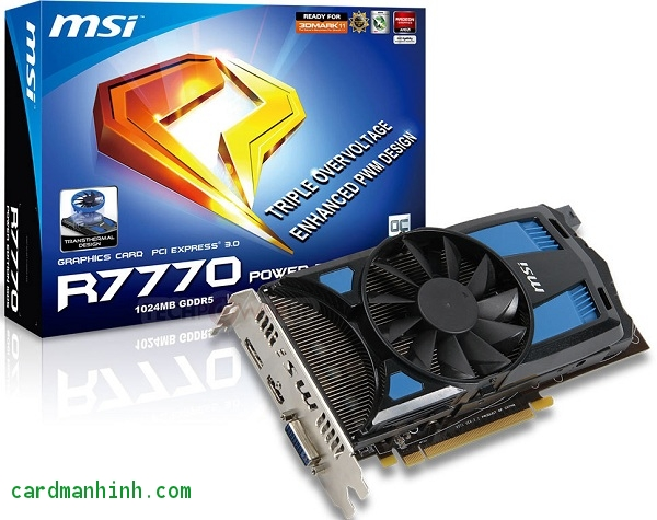 Card màn hình MSI R7770 Power Edition 1GD5/OC