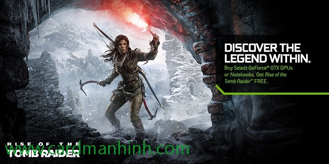 NVIDIA khuyến mãi game Rise of the Tomb Raider