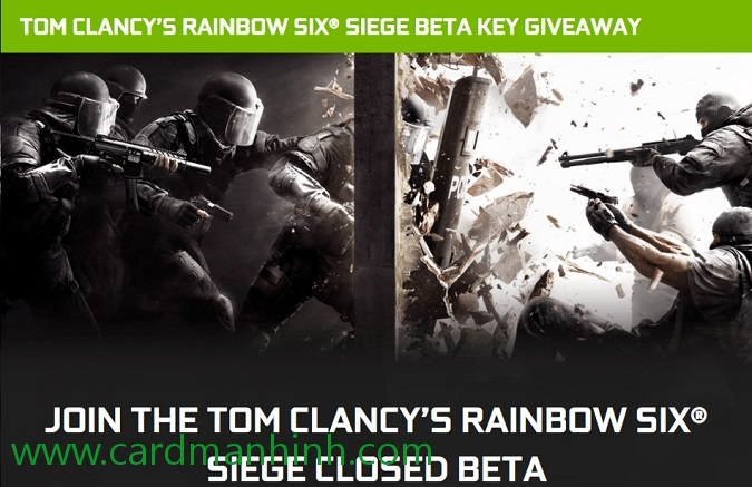 NVIDIA khuyến mãi game Tom Clancy's Rainbow Six Siege