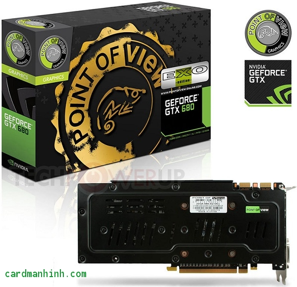 Card màn hình Point of View GeForce GTX 680 EXO