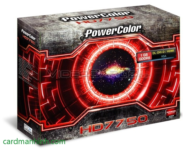 Card màn hình PowerColor Radeon HD7750 low-profile