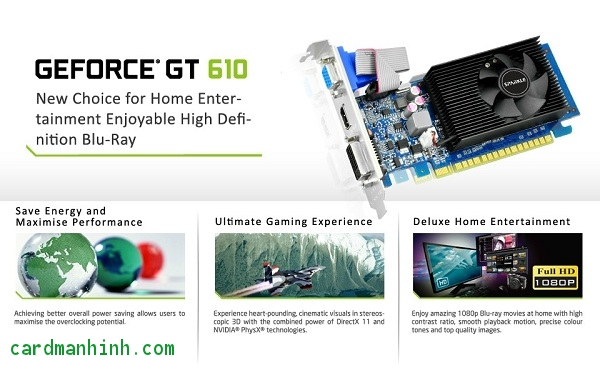 Card màn hình Sparkle GeForce GT 610 low-profile