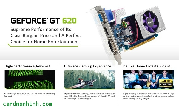 Card màn hình Sparkle GeForce GT 620 low-profile