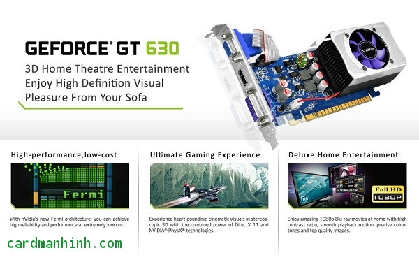 Card màn hình Sparkle GeForce GT 630 low-profile